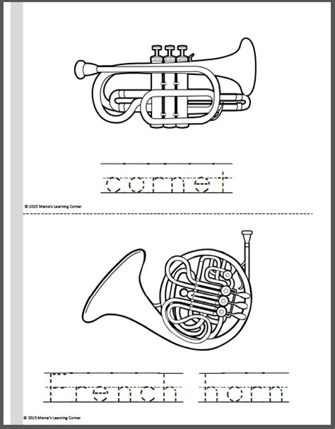 orchestra coloring pages mamas learning corner