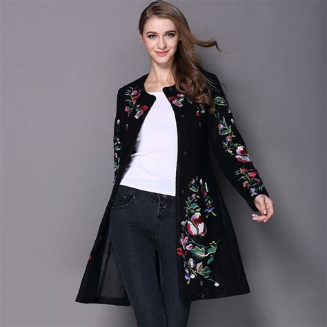 Embroidered Woolen Coat popular embroidered wool coat buy cheap embroidered wool