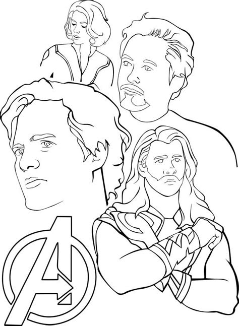 amazing  avengers coloring page  print
