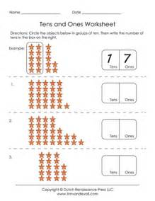 free printable tens and ones worksheets for first grade