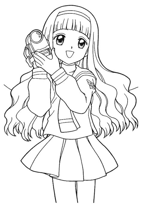 coloring pages anime characters anime coloring pictures