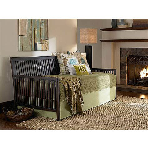 mission wood daybed espresso walmart
