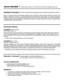 Curriculum Vitae Writers by Paramedic Resume