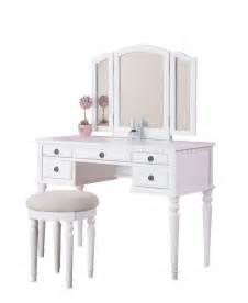 Bedroom Vanity Tri Fold Mirror Tri Fold White Vanity Makeup 3 Mirror Table Set Dresser