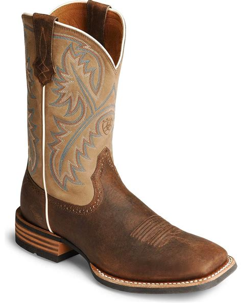 ariat s western boots ariat s quickdraw 11 quot western boot 10002224 ebay