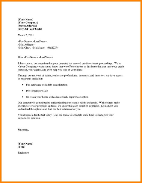 Foreclosure Processor Cover Letter by 3 Foreclosure Letter Format Rn Cover Letter