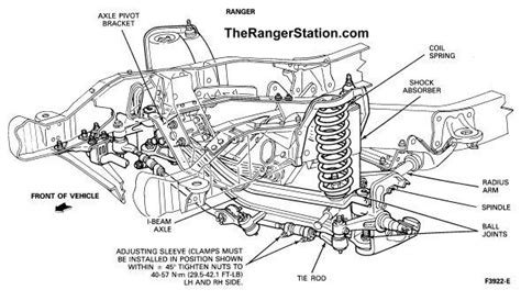 2002 ford ranger parts diagram the ford ranger front suspension within 2002 ford ranger