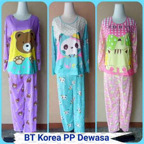 Piyama Dewasa Karakter Hp Baju Tidur Murah Baju Tidur 6 pusat grosir baju tidur korea pp dewasa tarbaru murah