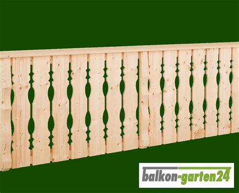 Balkongeländer Holz Einzelteile by Holzbalkon Bausatz Balkongel 228 Nder Balkon Holz