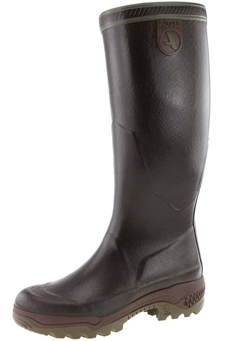 aigle boots for aigle parcours 2 brown rubber boots the rubber boot