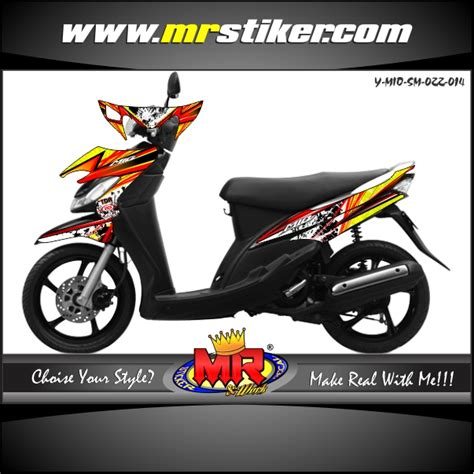 Keranjang Motor Mio mio racing splater stiker motor striping motor suka