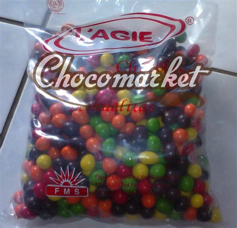 L Agie Febby Peanut kemasan kiloan coklat packing chocomarket