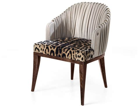 Luxury Dining Chair Nella Vetrina Sharpei Roberto Cavalli Home Modern Luxury Italian Dining Chair In Fabric And Leather