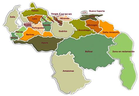 Imagenes De Venezuela En El Mapa | mapas de venezuela imagenes del mapa de venezuela