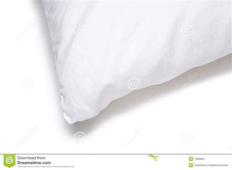 corner bed pillow corner edge of a white pillow stock images image 7489904