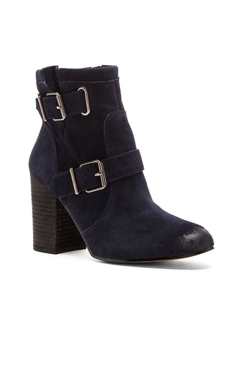 vince camuto simlee suede boots in black lyst