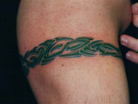 tribal band tattoos meaning awful green ink tribal armband