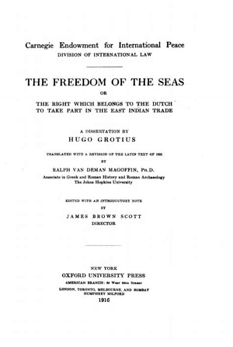 The Freedom Of The Seas Latin And English Version | the freedom of the seas latin and english version