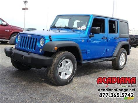 jeep 2016 blue 2016 hydro blue pearl jeep wrangler unlimited sport 4x4