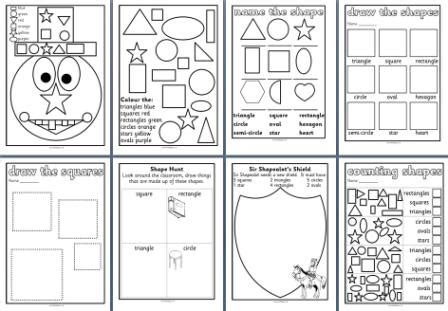 free ks1 maths teaching resources 2d shapes worksheets