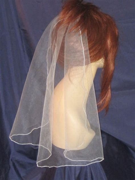 Wedding Hair Accessories Tulle by Bridal Tulle Veil 21 Quot Traditional Veil Illusion Veil