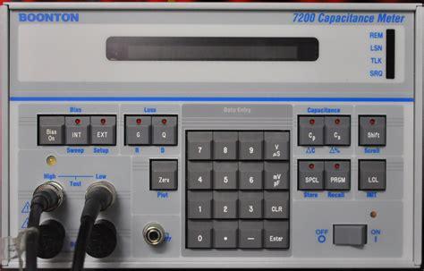 capacitance meter boonton research gt equipment gt boonton 7200 capacitance meter