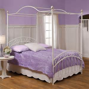 Canopy Beds Twin by Shop Hillsdale Furniture Emily White Twin Canopy Bed At