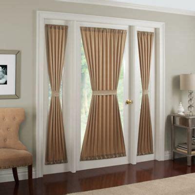 french door curtains bed bath and beyond midtown rod pocket door panel bedbathandbeyond com
