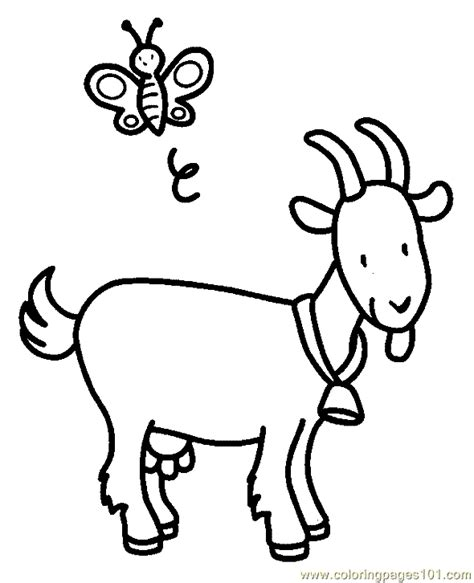 free coloring pages of goats coloring pages goat coloring page 03 animals gt goat