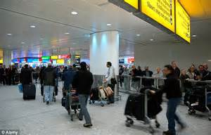 flight arrivals and departures heathrow international airport london europe wide computer problem causes delays and forces