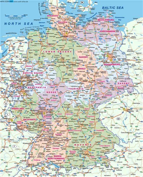 east germany map map of germany map in the atlas of the world world atlas