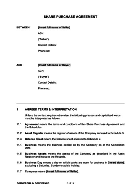 shareholder buyout agreement template sale of shares agreement template kidscareer info