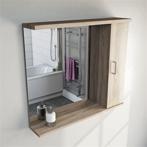 Oak Bathroom Mirror Oak Bathroom Mirror With Lights 850mm Victoriaplum