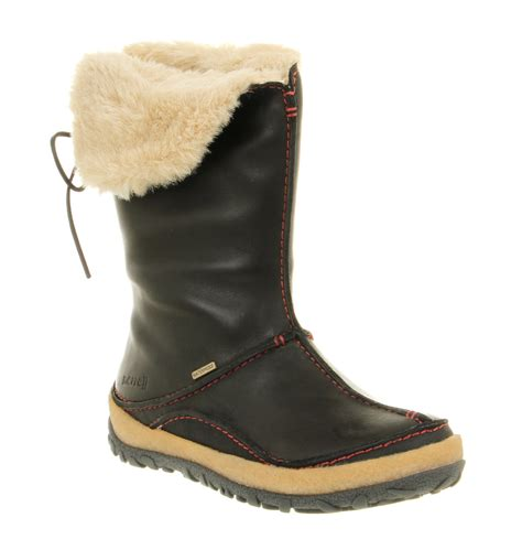 womens merrell oslo waterproof boot black leather boots ebay