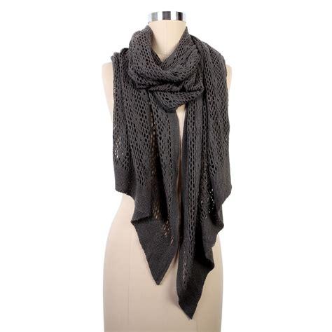 charcoal crochet look scarf amazing