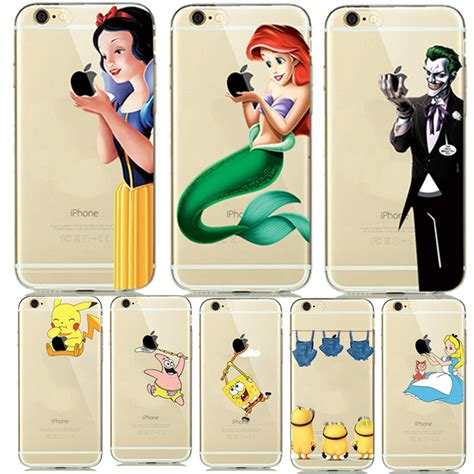 lovely princess snow white cinderella mermaid silicone for capinhas iphone 8 7 plus 6 6s 5s