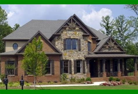rock brick combination exterior home home improvement best brick and stone exterior photos decoration design