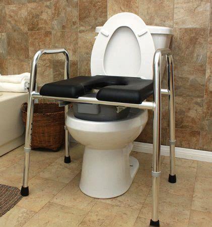 padded seat raised toilet frame bathroom aid