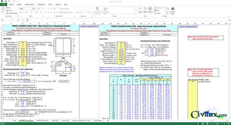 Asce 7 10 Wind Load Spreadsheet by Wind Analysis Program For Asce710w Asce 7 10 Civil