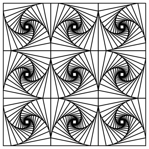 printable simple optical illusions illusion coloring pages printable coloring pages
