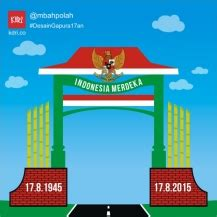 Kaos Indonesia Garuda Hut Ri lomba desain konsep gapura 17 agustusan hellomotion