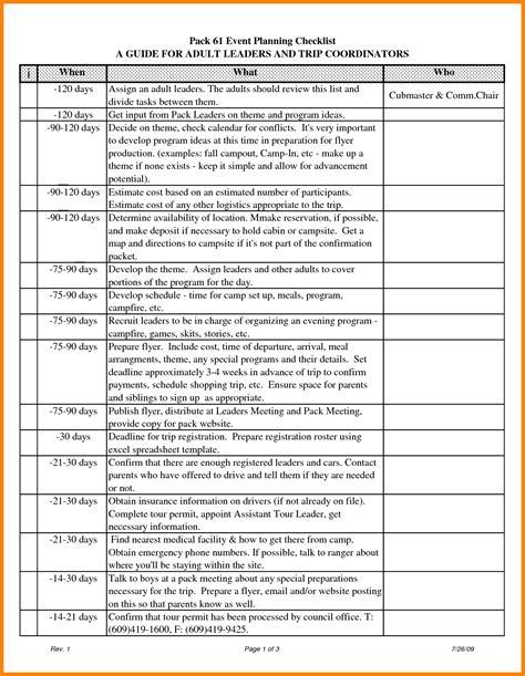 8  event planning checklist template excel   farmer resume