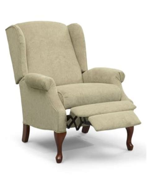 macys recliner chairs hillsboro recliner chair queen anne style wing