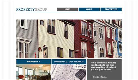 templates for property website property group wix template wix business template