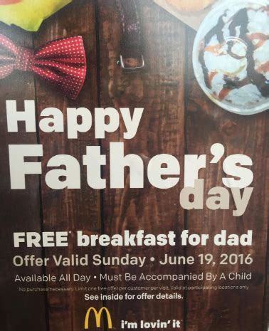 free food for fathers day free food for on s day coupon mamacita