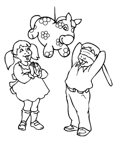 donkey pinata coloring page diannedonnelly com