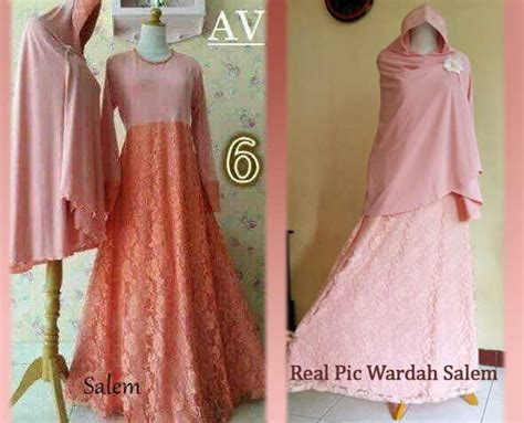 Harga Wardah Untuk Remaja baju muslim wardah brokat a042 model gamis pesta syari