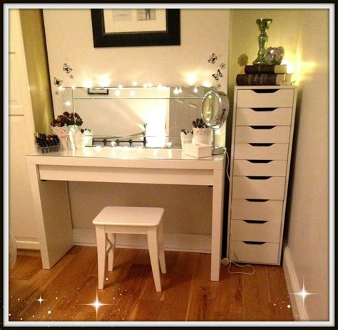 Bedroom Makeup Vanity With Lights Ikea by Ikea Diy Vanity Mirror With Lights Ikea Makeup Vanity Set