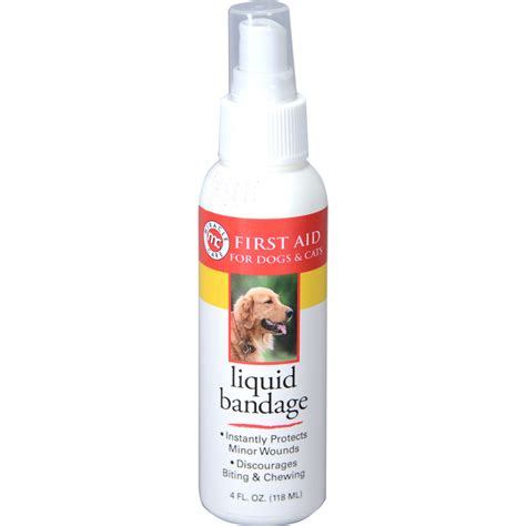 liquid bandage for dogs miracle care liquid bandage spray for dogs and cats 1800petmeds