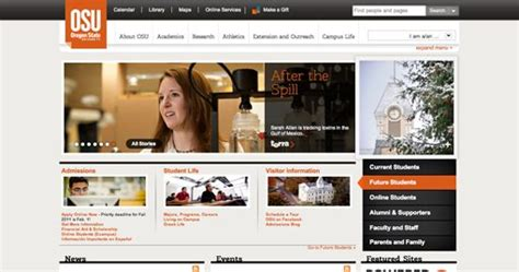 web design inspiration university best and worst design 50 university websites from 50